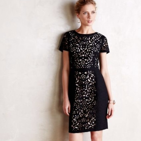 0a27b0981aac Anthropologie Dresses & Skirts - Anthropologie Maeve Laser Cut Black Dress  12